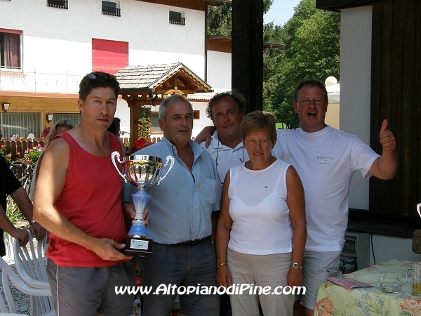 Primi classificati APD Altopiano di Piné A - Trofeo Anesin 2010